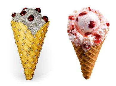 ダイアモンドが散りばめられた「1-Million Ice Cream Cone」