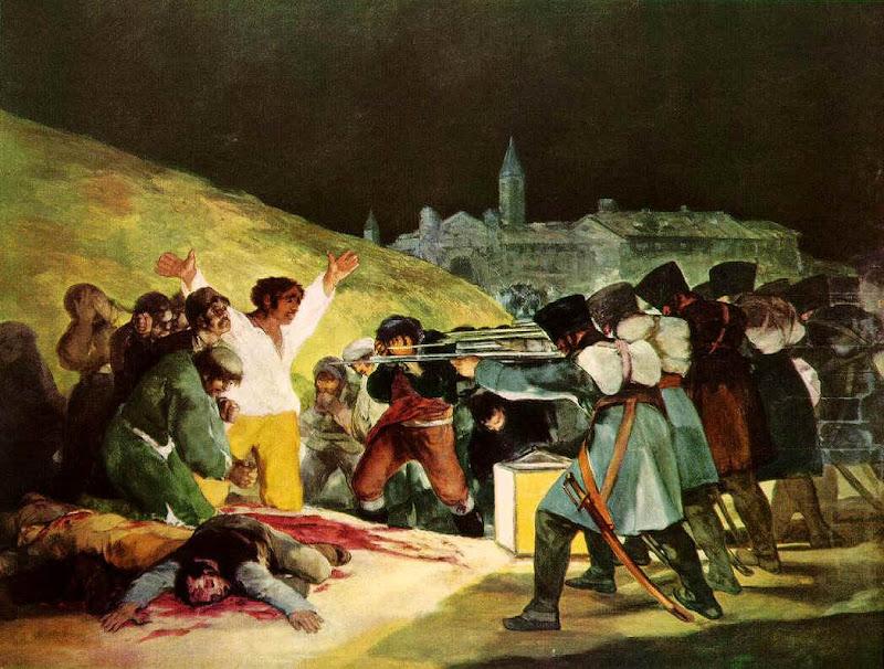 Francisco de Goya, the shootings of May third 1808
