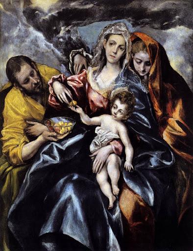 El Greco, heilige familie