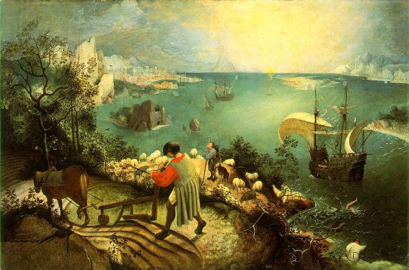Pieter Bruegel, de val van Icarus