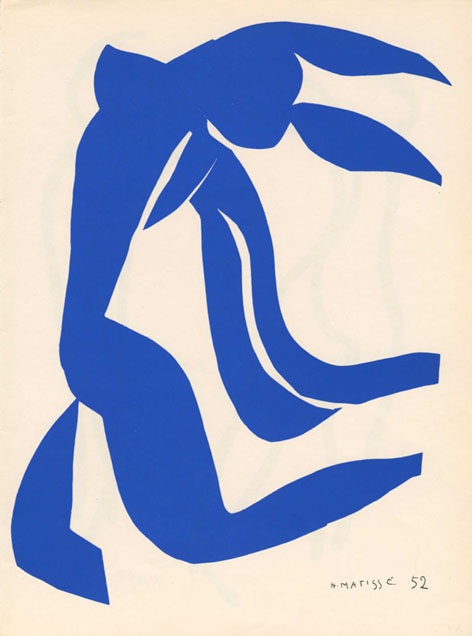 Henri Matisse, blue nude with flowing hair