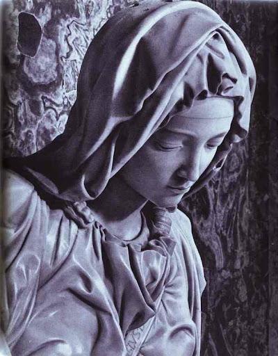 Michelangelo Buonarotti, piëta (detail)