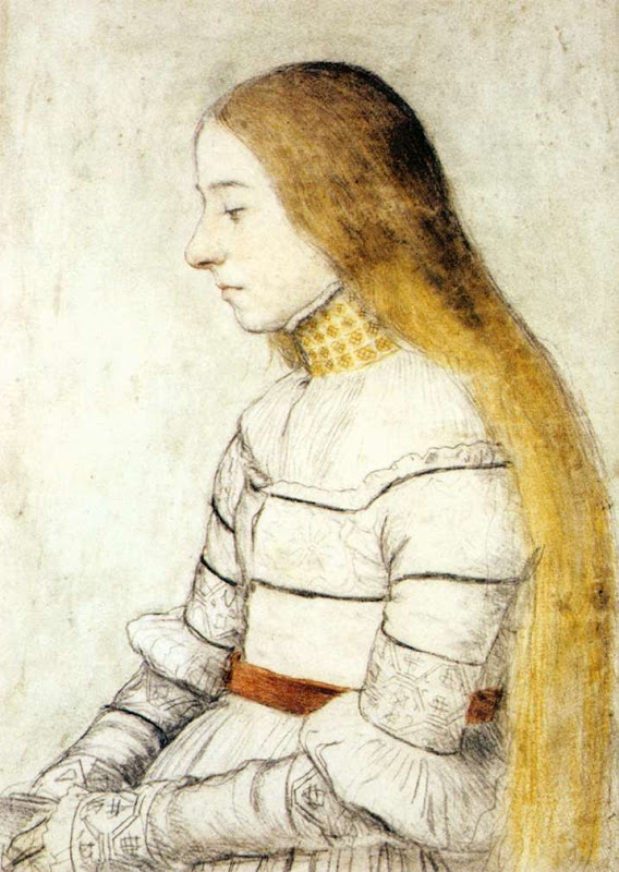 hans holbein the younger, portrait of anna meyer