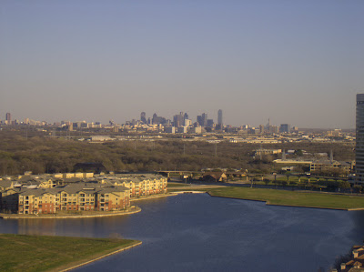 image: view of Dallas from my hotel suite