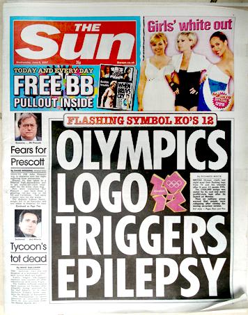 OLYMPICS LOGO TRIGGERS EPILEPSY