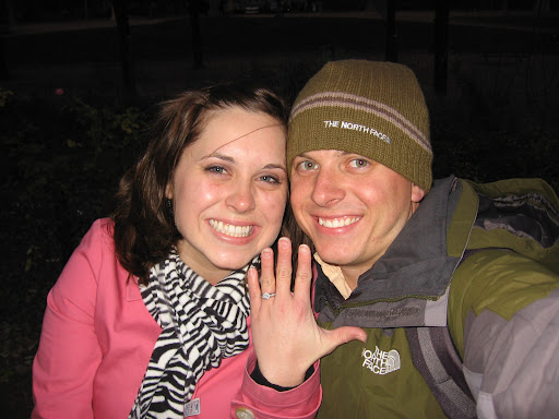 Photo of Mandy and Phil after she accepted his proposal of marriage.