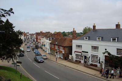 Battle town from abbey walls