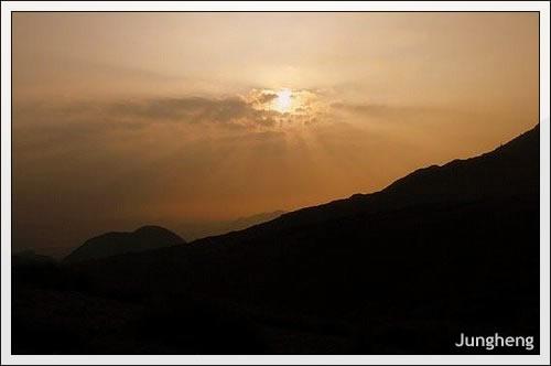 陽明山日落