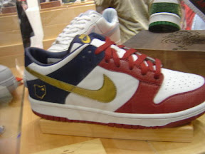 lbj pe nike dunk red navy gold LeBrons non signature shoes: Nike Dunk