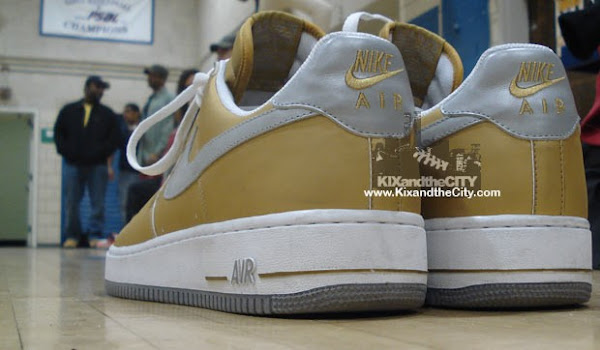 Nike Air Force 1 LeBron goldwhitegrey sample