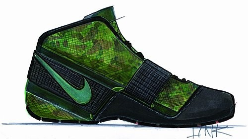 Nike Zoom LeBron Soldier sketches
