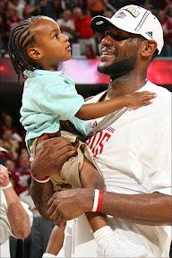 sports shoes 918ba 5cf8f LeBron s first child – LeBron James Jr.