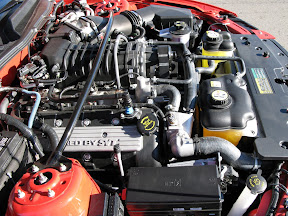 2007 Ford Mustang Shelby GT500 Engine View