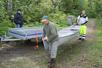 Avlastning av kanot