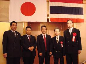 Dhamma Society with owen of the hotel, the celebration of the Tipitaka from Thailand, Osaka, 2007.