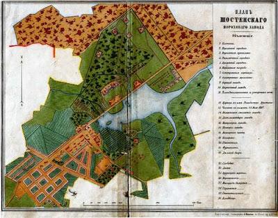 План Шосткинського порохового заводу 1871 р.