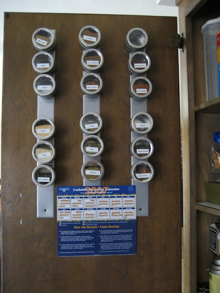 Ikea Variera Shelf Hole Fillers ~ Magnetic Spice Rack IKEA http  herbiesworld blogspot com 2007 01 hack