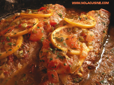 New orleans cuisine redfish courtbouillon recipe at nola for How to cook red fish