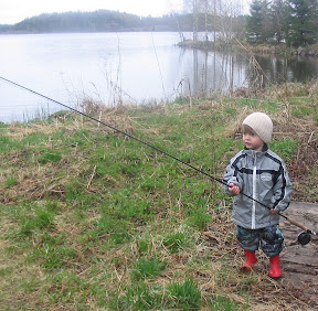 My son and a fly rod