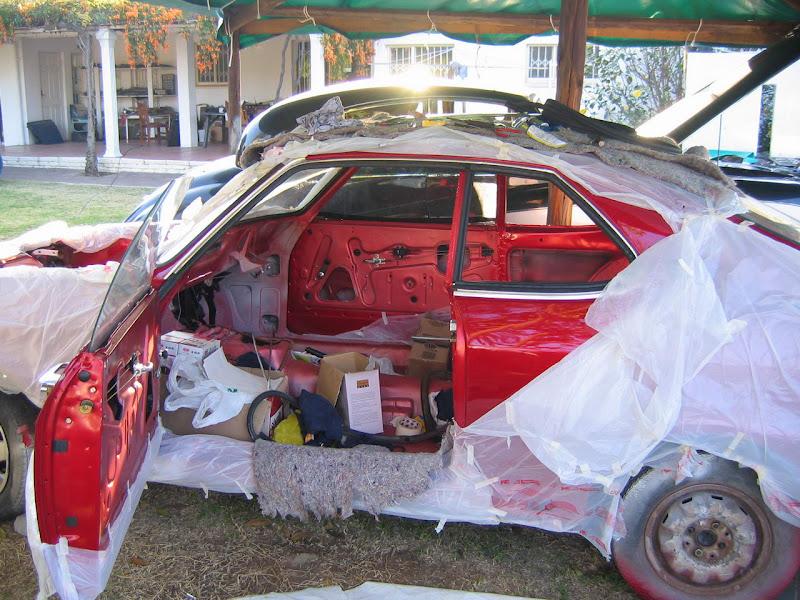 Opel Manta Interior. Interior * Finishing off.