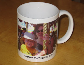 Coffee cup with BigE's picture