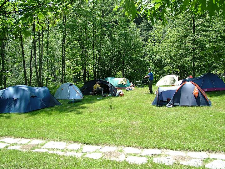 Our campsite at Campertogno