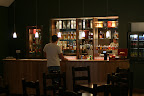 Patrik alone at the bar in Edradour Distillery