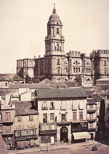 Catedral de Malaga foto antigua