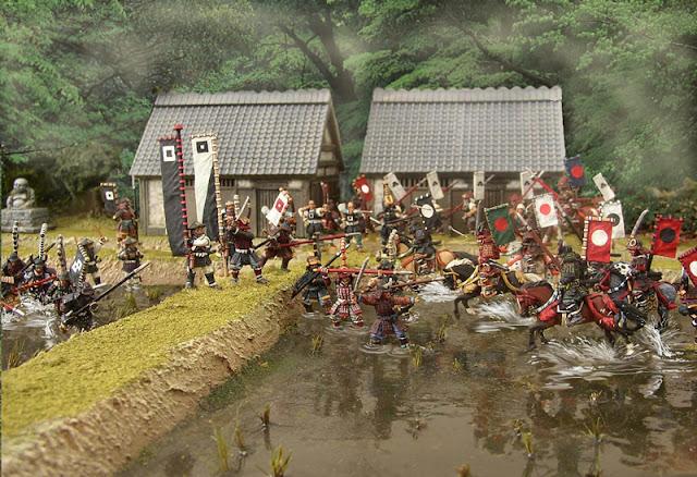 Charge de samouraïs à cheval