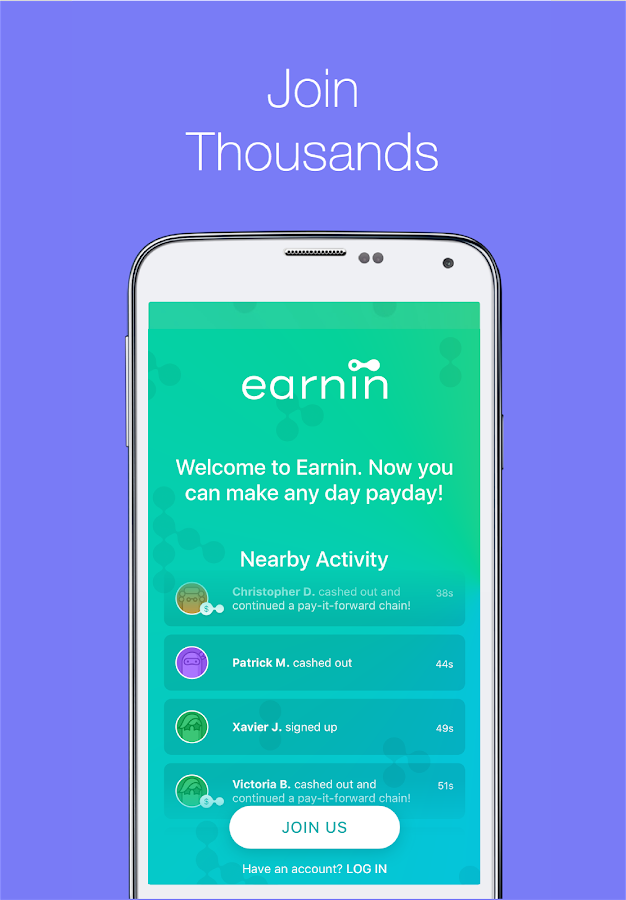Earnin—Get paid today.- screenshot