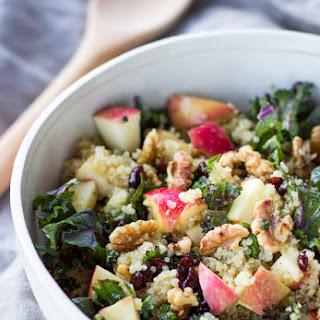 Picnic Perfect Kale Quinoa Salad + Cider Vinaigrette.