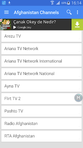 Afghanistan TV Channels