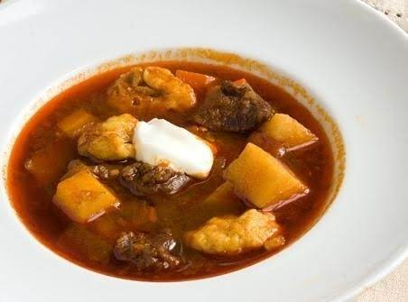 Authentic Hungarian Goulash (gulyasleves)