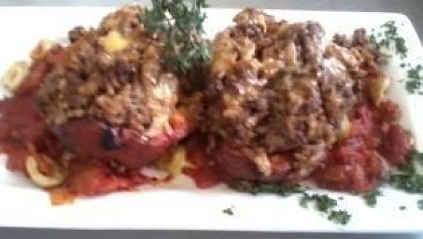 Roasted Tex-mex Stuffed Red Peppers Recipe