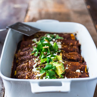 Butternut Mole Enchiladas Recipe