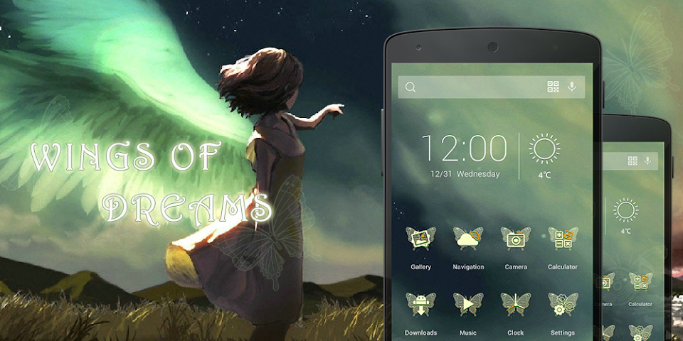 android Wings Of Dreams-Solo Theme Screenshot 0