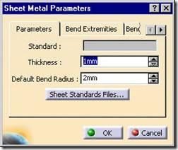Catia Sheetmetal Design Generative Sheet Metal Parameters