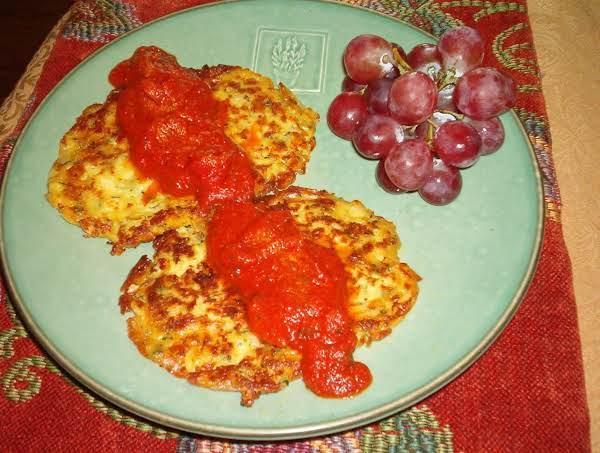Zucchini Patties With Marinara Sauce Recipe