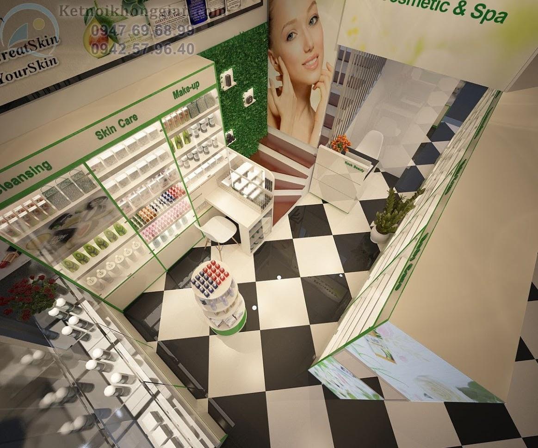 thiết kế shop mỹ phẩm chuyên nghiệp và tinh tế