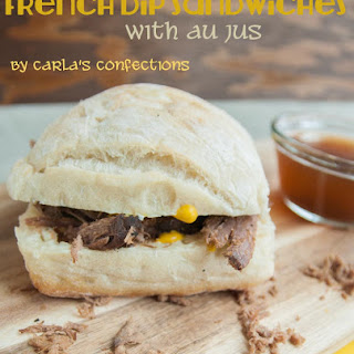 {Crock Pot} French Dip Sandwiches with au jus sauce