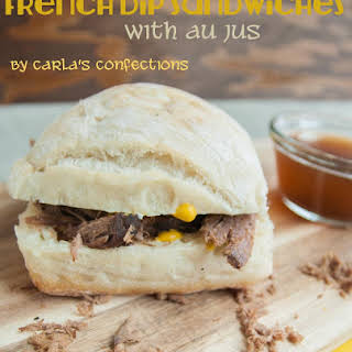 {Crock Pot} French Dip Sandwiches with au jus sauce.
