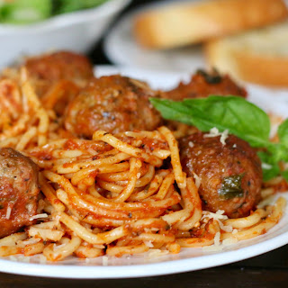 Crock Pot Spaghetti and Meatballs (All-In-One).