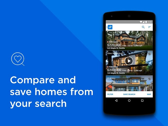 Screenshot 0 for Zillow's Android app'