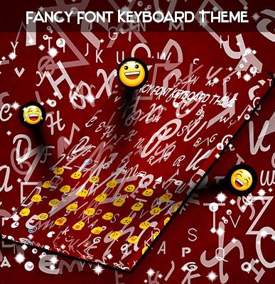 Fancy Font Keyboard Theme - screenshot
