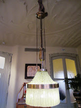 Photo: Another unusual light fixture and ornate ceiling