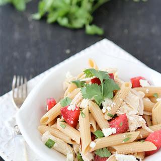 Chicken Pasta Salad Recipe with Plums, Feta & Cumin Dressing