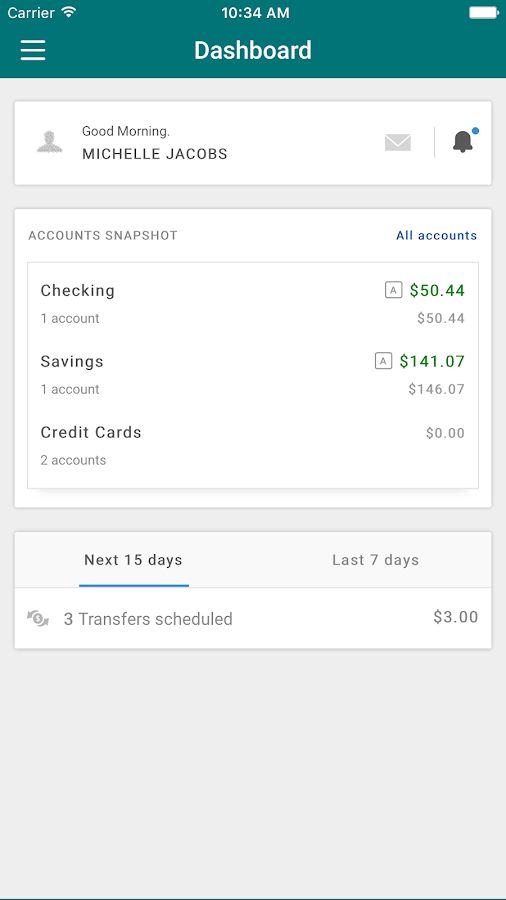 Sandia Area Mobile Banking- screenshot