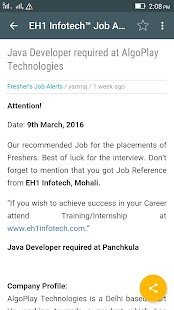 EH1 Infotech Job Alerts- screenshot thumbnail
