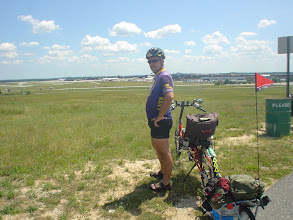 Photo: On the BWI trail and the airport overlook