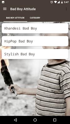 2017 Badboy attitude status - screenshot
